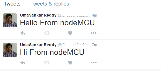 NodeMCU posting data to Twitter