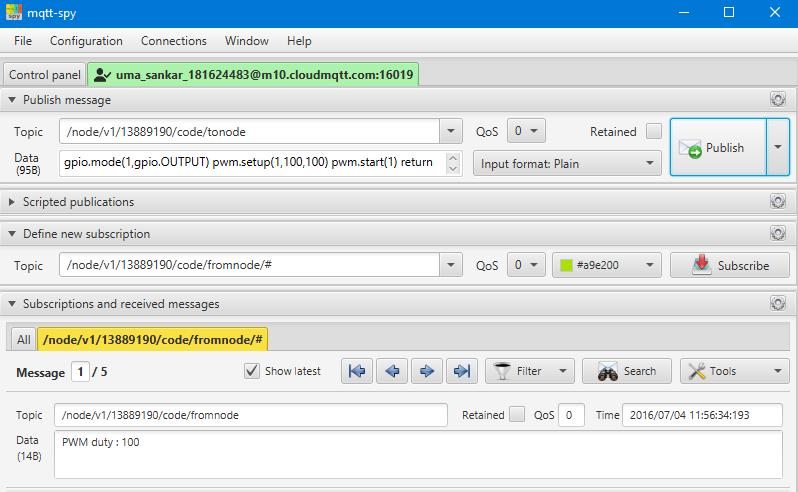 Remote PWM sending Code