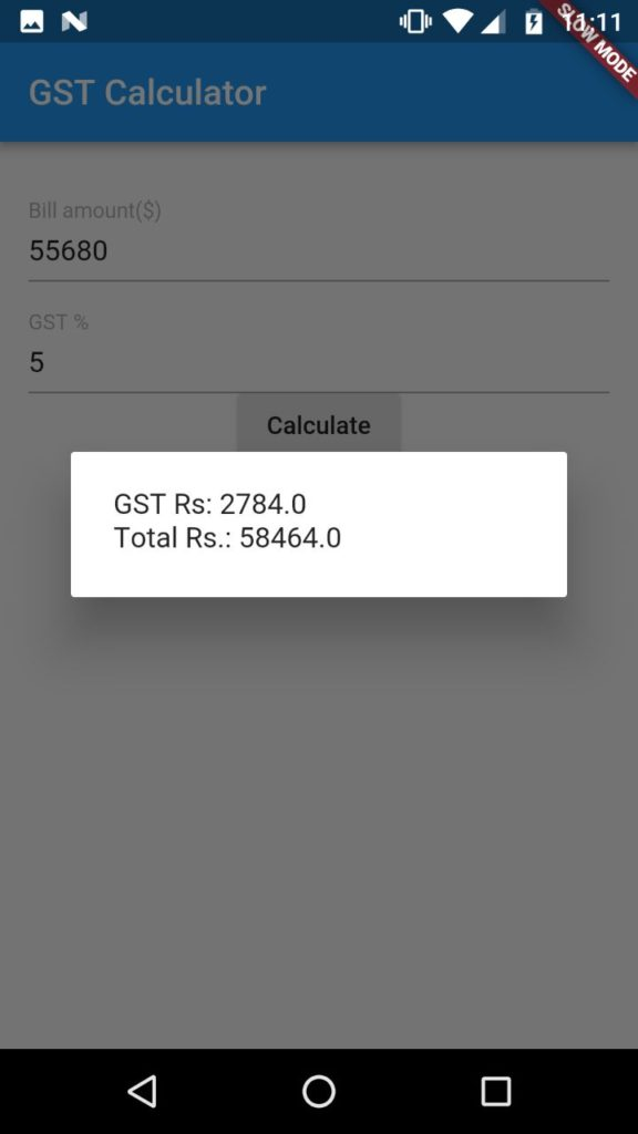 Sample GST app using FLutter